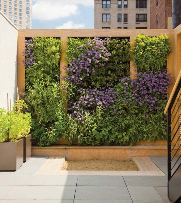 living wall vertical garden not sure how this done but lovely way to get privacy garden wo space to garden