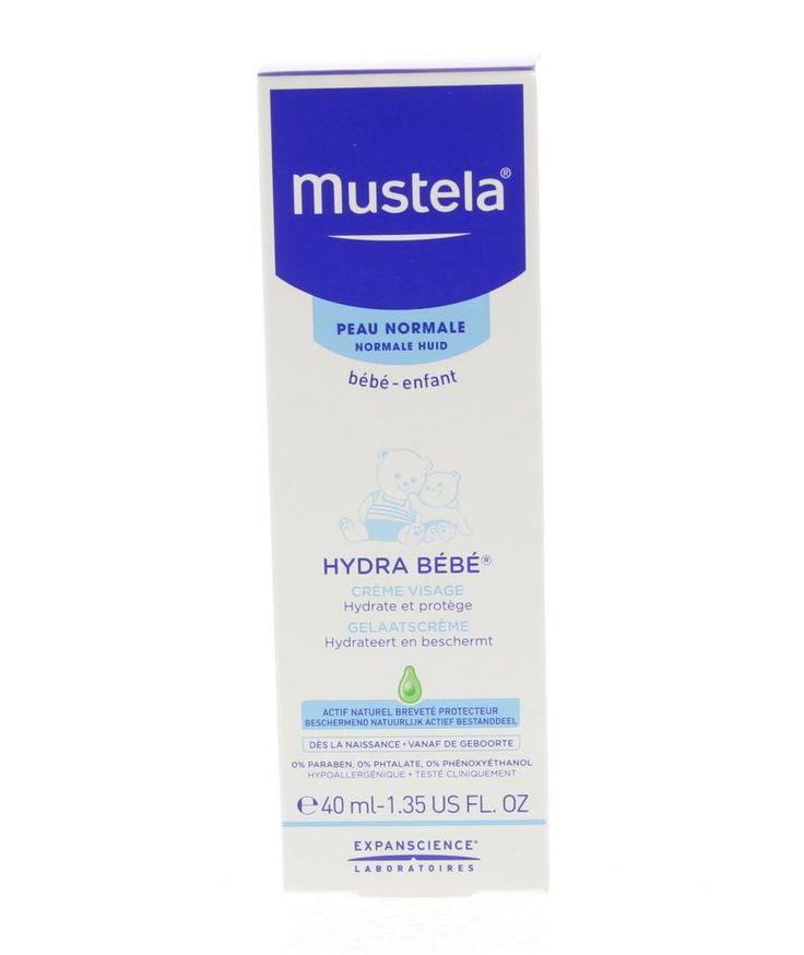 Mustela Bébé Hydra Bébé Visage Crème Normale Huid 40ml  Mustela Bébé Hydra Bébé Visage - Hydraterende Crème Gezicht. Deze crème bevat Avocado Perseose wat de huidbarrière versterkt en behoudt het calkapitaal van de huid. Geeft de huid onmiddelijke en langdurige hydratatie en houdt het evenwicht van water in de huid. Kan gebruikt worden vanaf de geboorte en is getest onder dermatologisch en pediatrisch toezicht. Gebruik: 's Ochtends en 's avonds aanbrengen op het gelaat.  EUR 5.95  Meer…