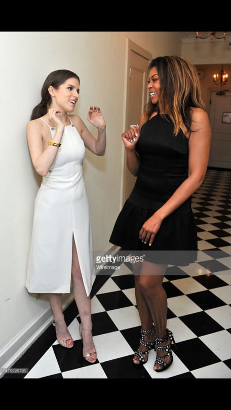 Taraji P. Henson with Anna Hendricks at the Glamour Magazine Dinner - May 29, 2015