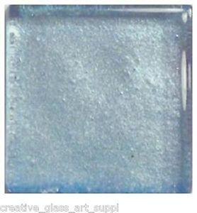 20 - 3/4 inch ICE BLUE Metallic Glass Mosaic Tiles