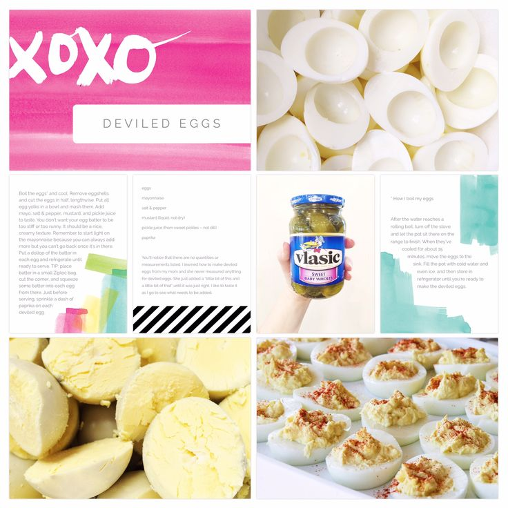 23 best beckys recipe 8x8 pages images on pinterest project life deviled eggs recipe page created using the project life app forumfinder Choice Image