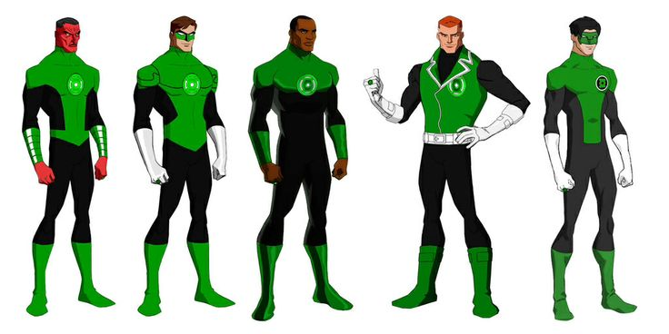 Sinestro  amp  Green Lanterns Sector  2814Young Justice Kyle Rayner