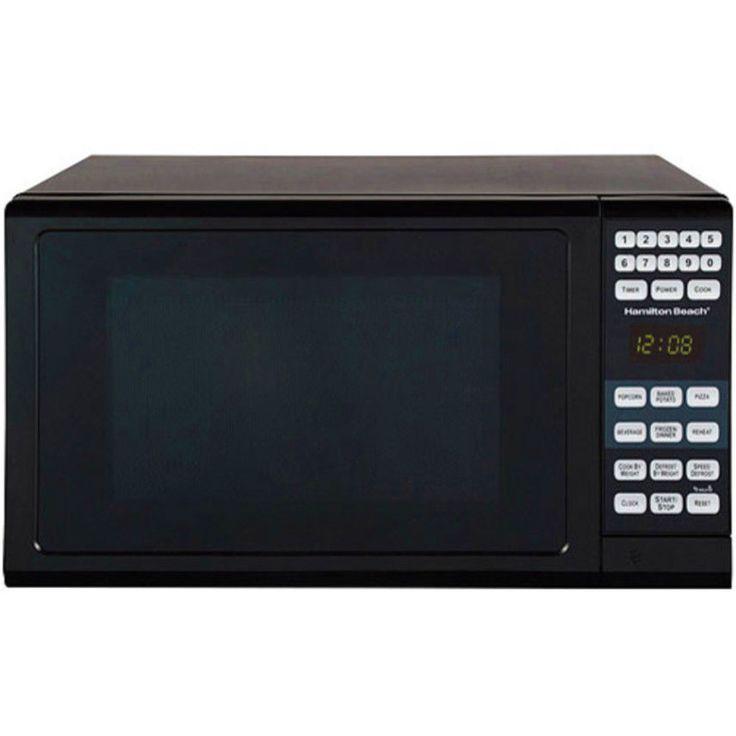 Compact Microwave Oven  Countertop By Hamilton Beach  0.7-cu ft 700 Watts Black #HamiltonBeach