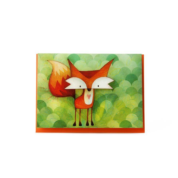 Carte Renard KETTO Card Fox // Sans inscription. // Blank. // #Carte #Card #Ketto