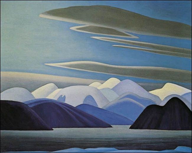 """ NORTH SHORE, BAFFIN ISLAND "" ~ by Lawren Harris  ~ Group of Seven ~ North Shore Lake Superior"