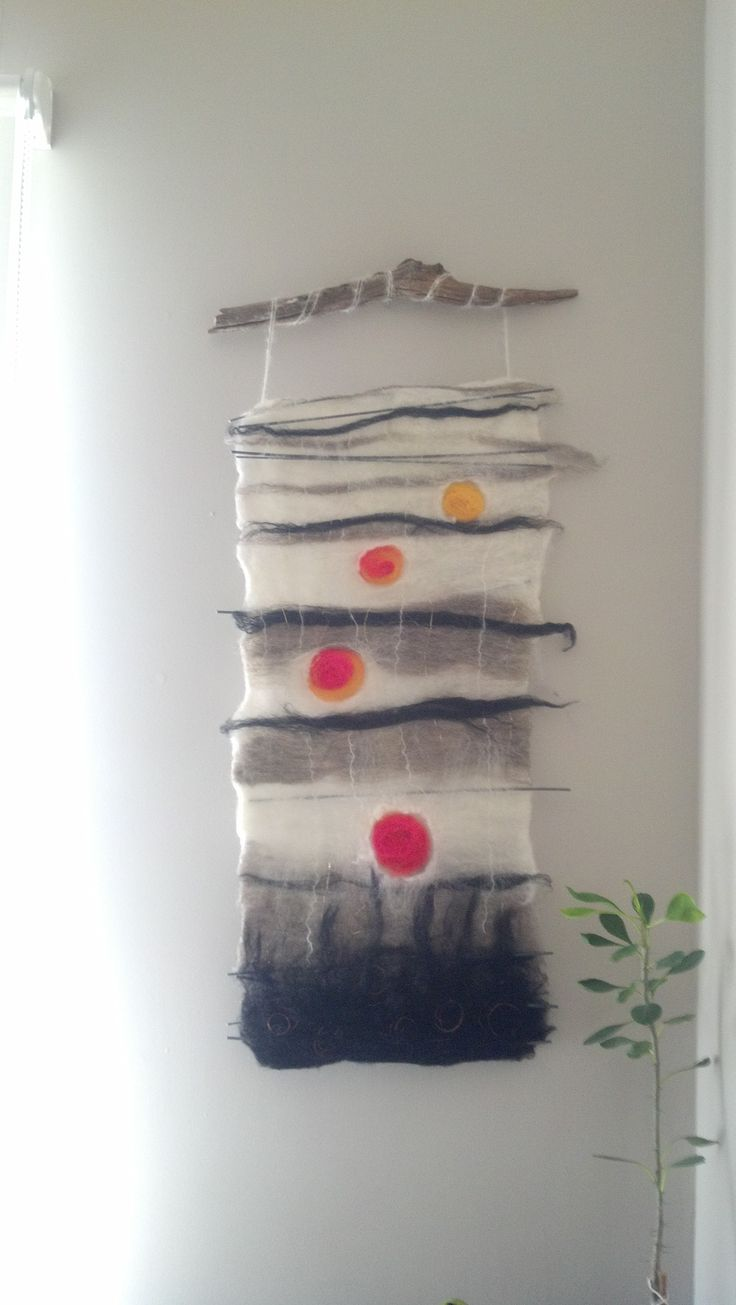 Wet felted wall hanging.                                                       …
