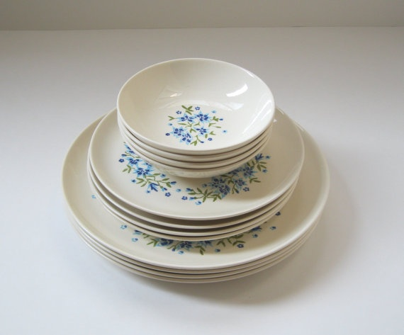 Vintage Dinnerware Set Stetson Ring of Blue by TheVintageResource $23.00 & 93 best Vintage dinnerware images on Pinterest | Dish sets Vintage ...