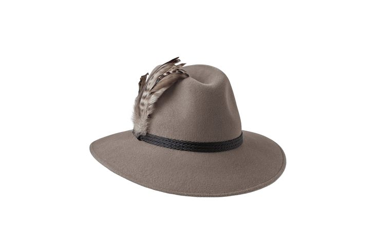 The Festival Fedora Collection | Willow Fedora | Mink | Black Braid & Feather Band www.penmayne.com #fedora #hats #accessories