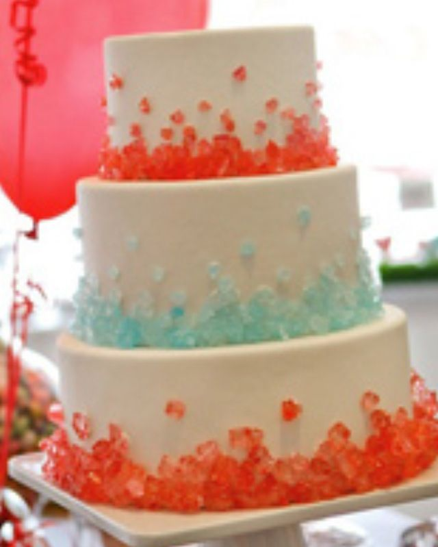 Cake Decorated With Gummy Bears