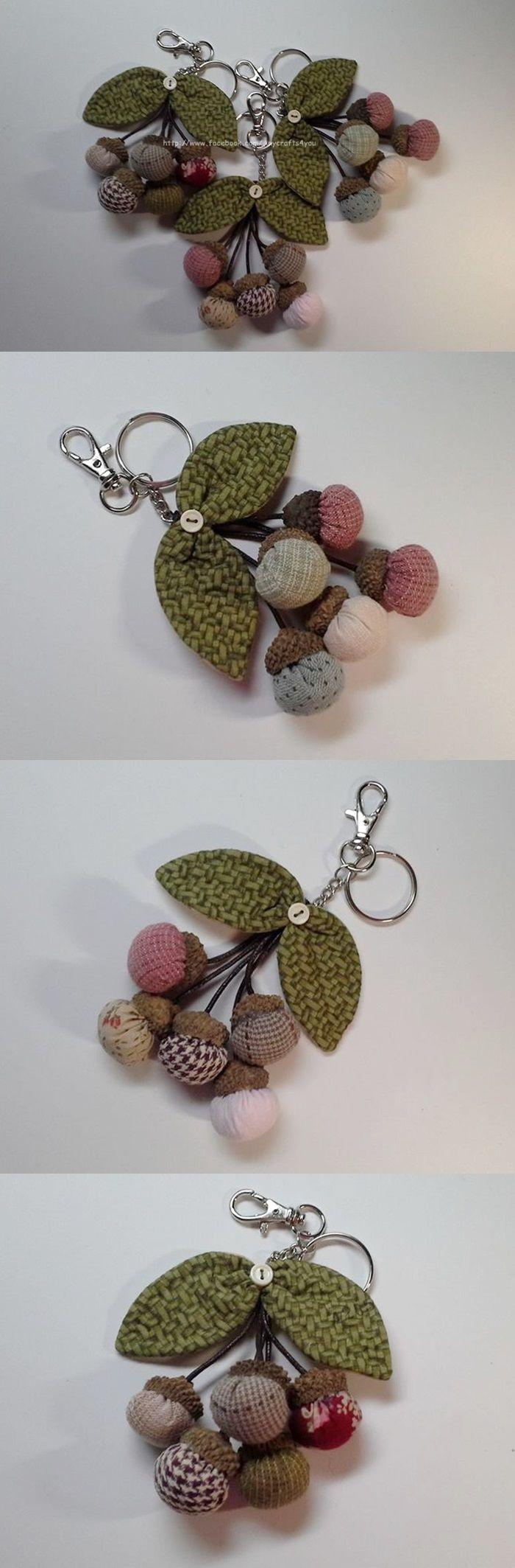 手縫布鑰匙圈