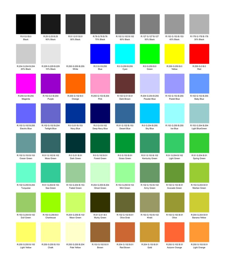 38 best name that color! images on pinterest | color names, colors