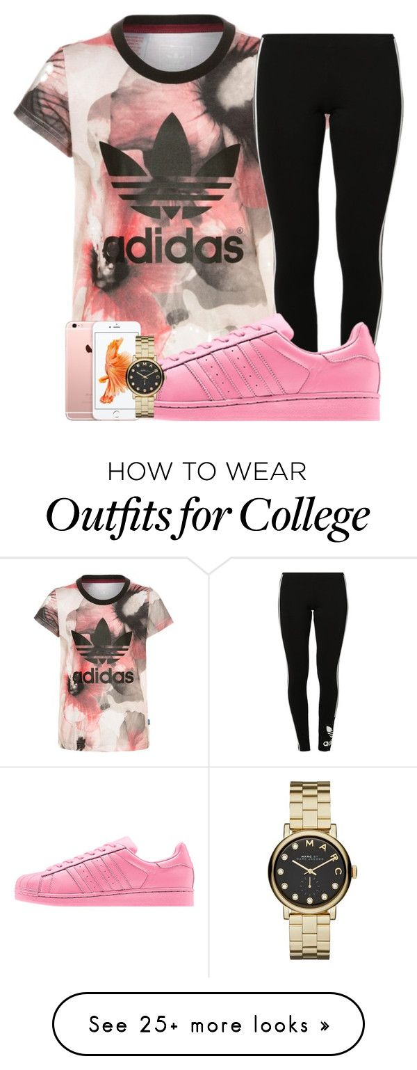 """""""Untitled #168"""" by trillest-qveen247 on Polyvore featuring adidas Originals and Marc by Marc Jacobs"""