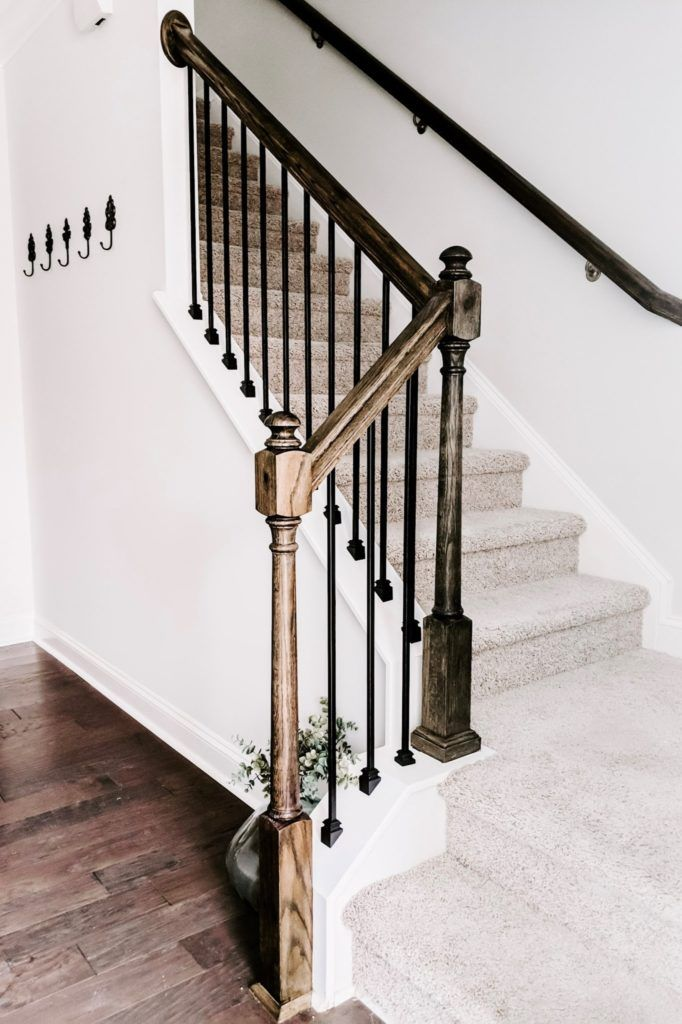 Cheap And Easy Diy Stairs Makeover Crafted By The Hunts Diy Stairs Stair Makeover Stair Balusters