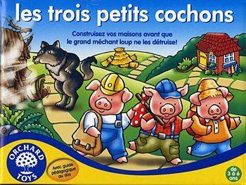Les trois petits cochons: Aidez les trois petits cochons à construire leurs maisons, mais faites attention au grand méchant loup qui va souffler de