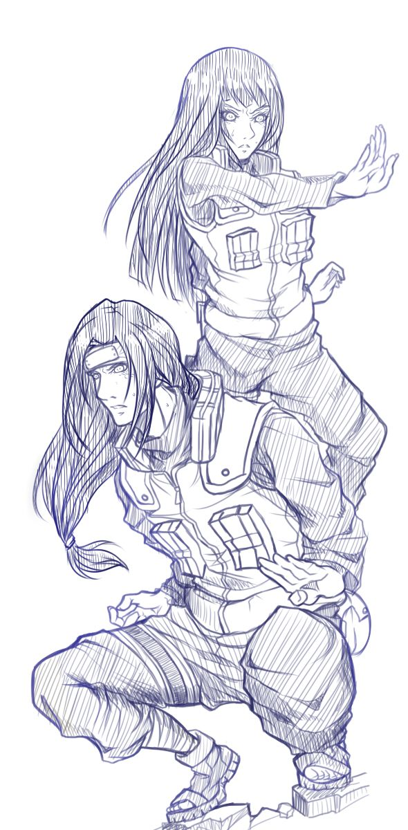 iirehtalasse:  Neji & Hinata  I love jonin uniform it's HOT!!! Nejihina