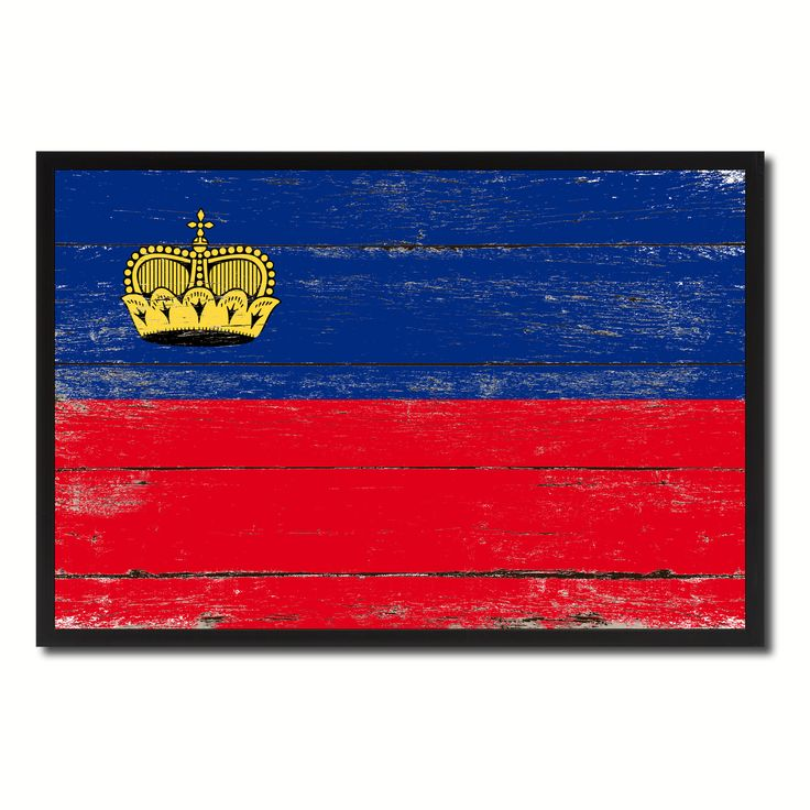 Liechtenstein Country National Flag Vintage Canvas Print with Picture Frame Home Decor Wall Art Collection Gift Ideas