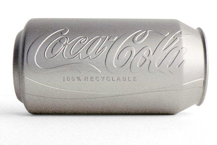 Coke creates an environmentally friendly and colourless can.