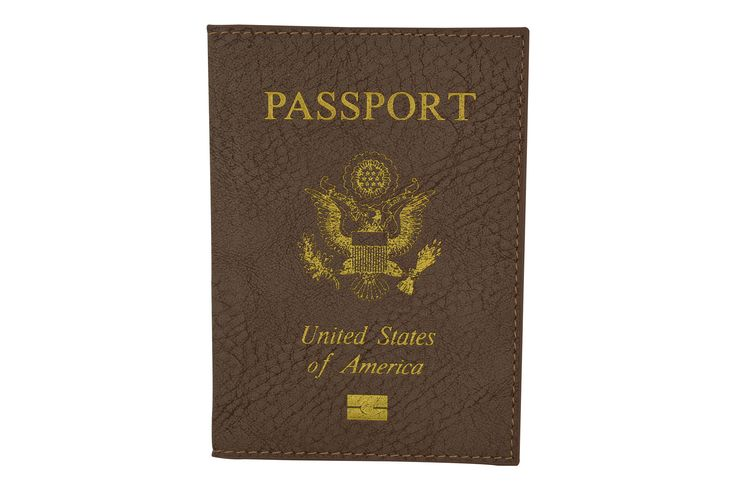 Marshal USA Gold Logo Passport Cover Holder for Travel 151 PU USA (C)