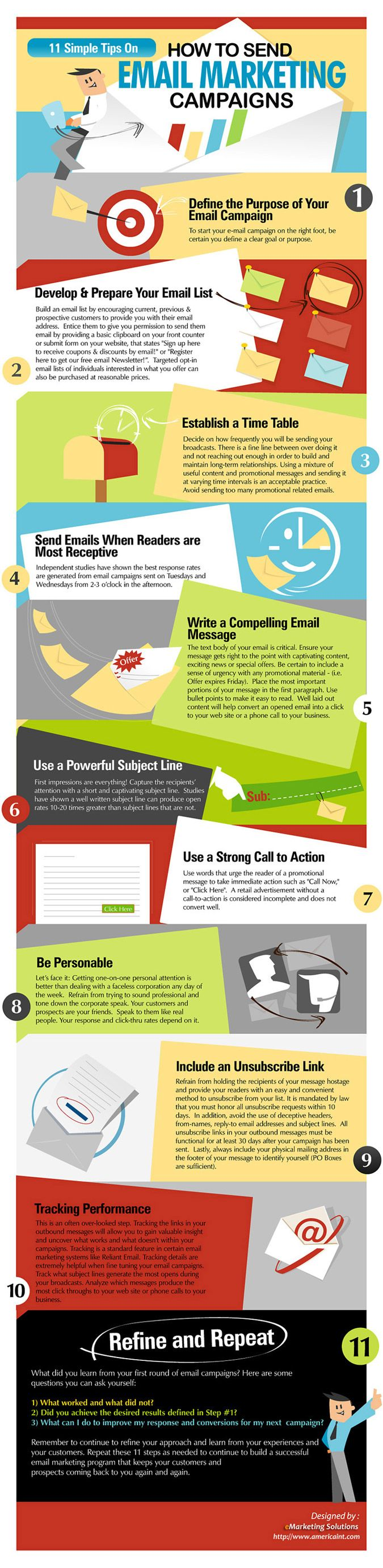 11 Email Marketing Tips that Rock  Looks great! Any of you sent it yet?