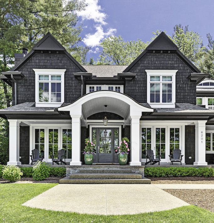 Dream Home A Crisp Cedar Shaker In Michiganbecki Owens With Images House Designs Exterior House Exterior Dream House Exterior