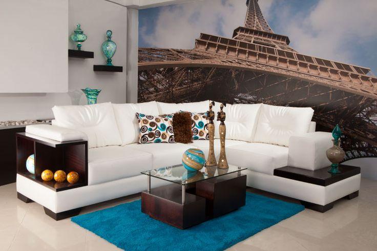 #Modular #Grimani Sus detalles en madera le dan esa elegancia ideal para la sala. www.maderaymuebles.co