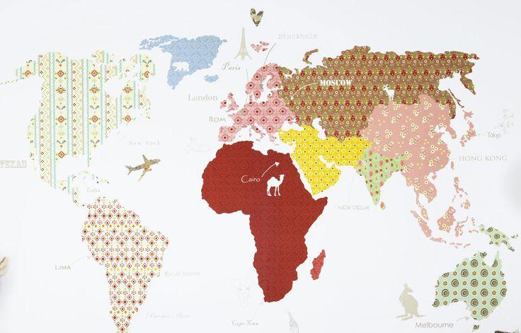 Las 25 mejores ideas sobre papel pintado juvenil en - Papel pintado mapamundi ...