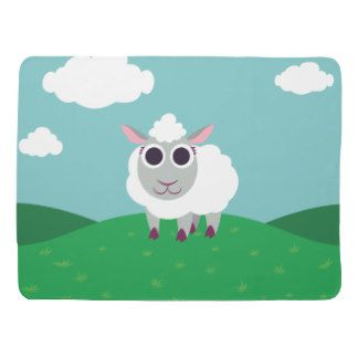 Lulu the Sheep Swaddle Blankets