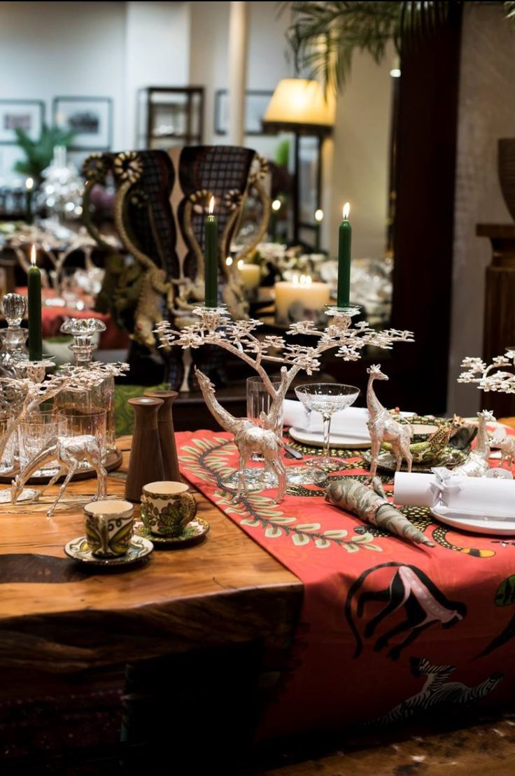 A Charming African Table setting, Patrick Mavros silver with Ardmore!