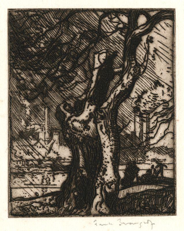 The Old Tree, Hammersmith, 1903  Frank Brangwyn, 1867 - 1956