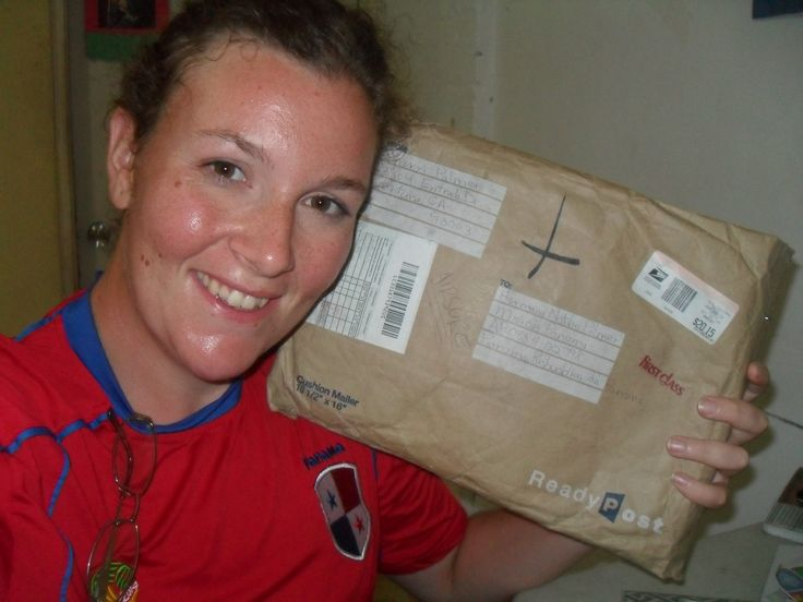 Natalie and her package!