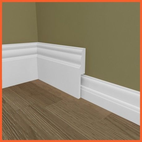Our Edwardian MDF skirting board cover (skirting over skirting) inspired by the Edwardian period, is an ideal method to modernise your skirting board.