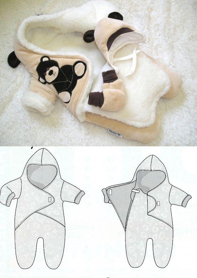 Комбинезоны и спальные мешки / Простые выкройки