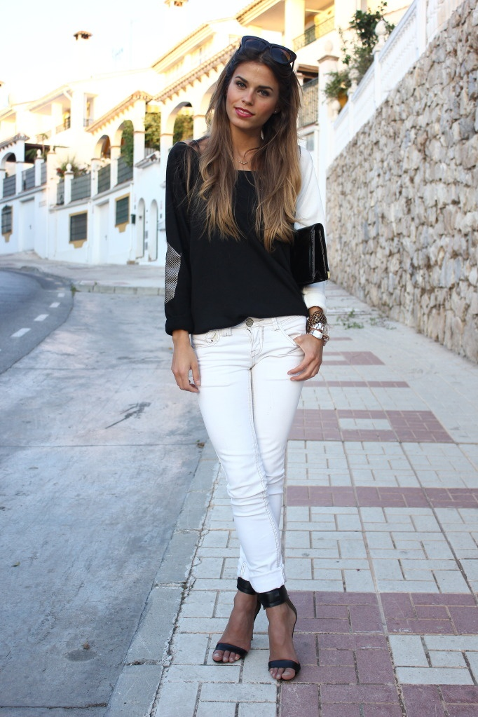black and white and chic