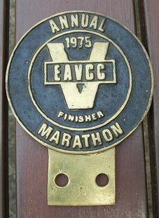 East Africa Vintage Car Club Marathon Finisher 1975