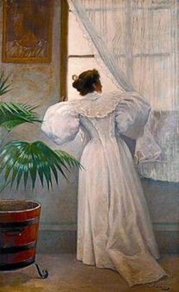 Mirando al exterior' (1890), de Ramon Casas.