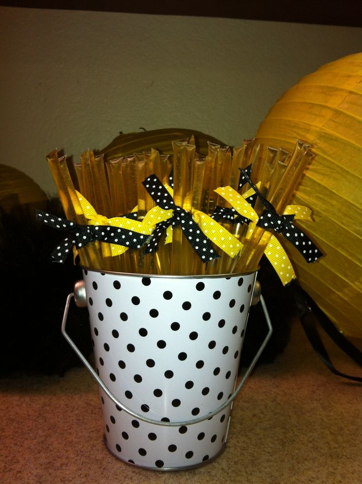 Honey Sticks Party Favor For What Will It Bee Gender Reveal