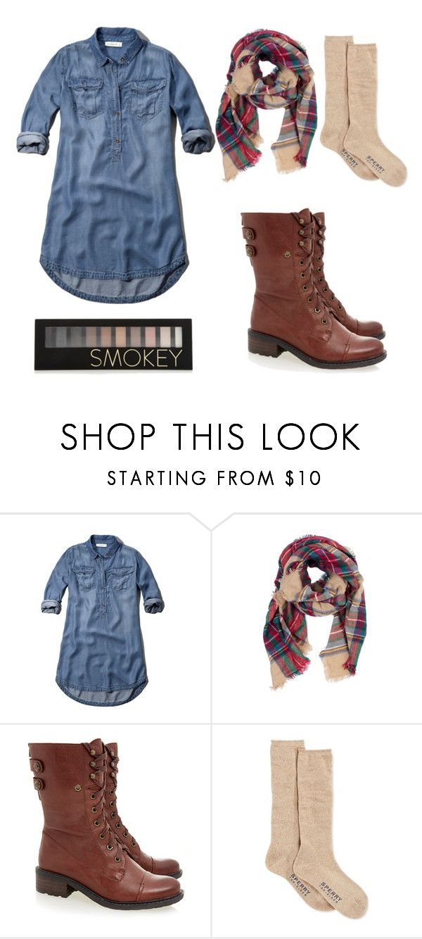 """Christmas Eve outfit"" by mazapp on Polyvore featuring Abercrombie & Fitch, Look by M, Sam Edelman, Sperry Top-Sider and Forever 21"