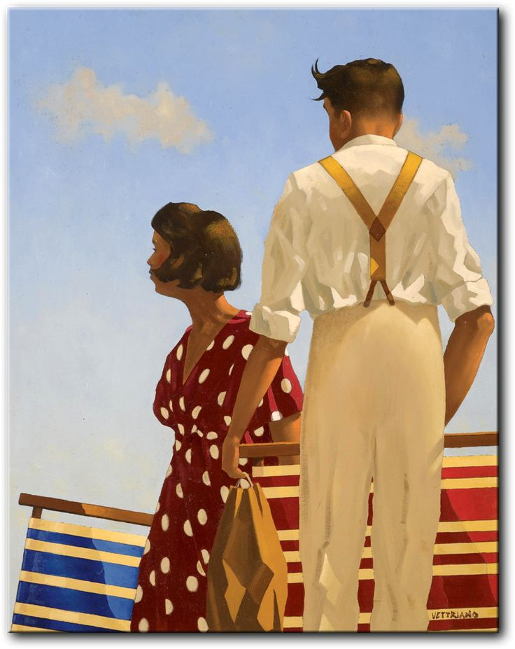 Deck Chairs Vettriano In 2019 Jack Vettriano Art