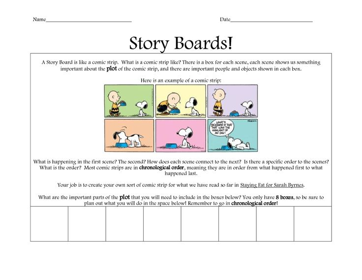 Example of a Storyboard Presentation Examples Of Story Boards In - example of chronological order