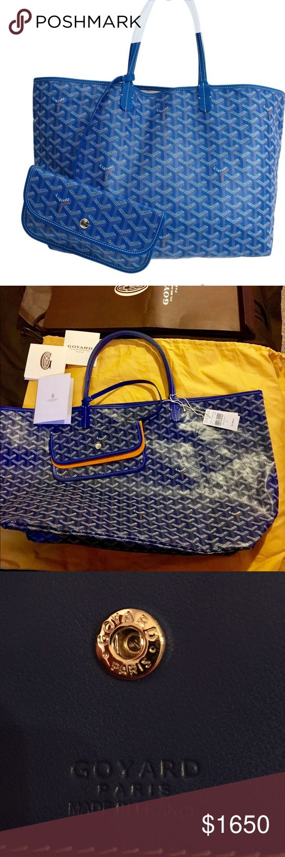 Goyard Saint Louis GM Tote Bag New with tags from Barneys. Everything in second photo included. Goyard Bags Crossbody Bags