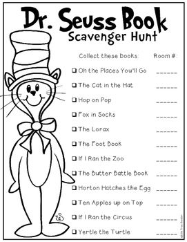 Your+students+will+have+lots+of+fun+with+this+Seuss+Book+Scavenger+Hunt.+