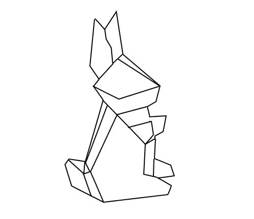 geometric geometrique rabbit lapin