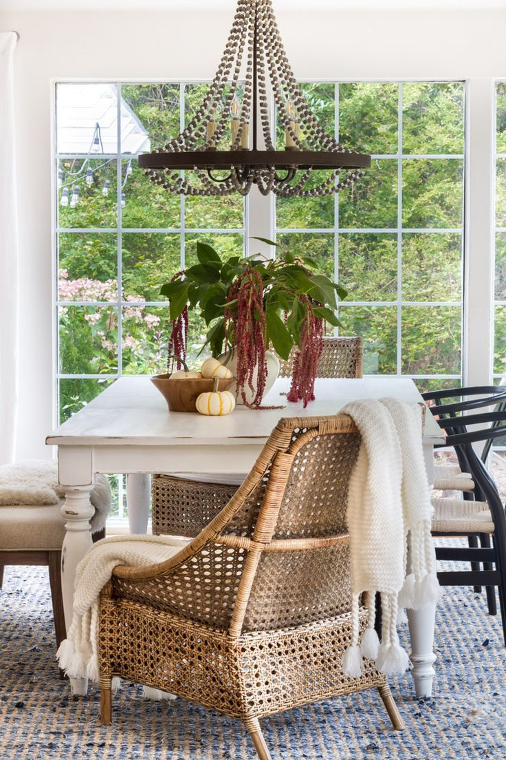 Fall into Home with warm and neutral decor. Farmhouse, modern, eclectic look.