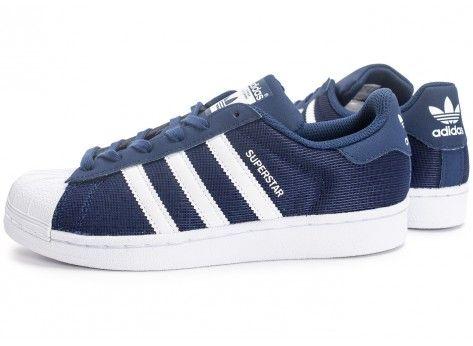 Chaussures adidas Superstar Nylon Junior bleu marine vue extérieure