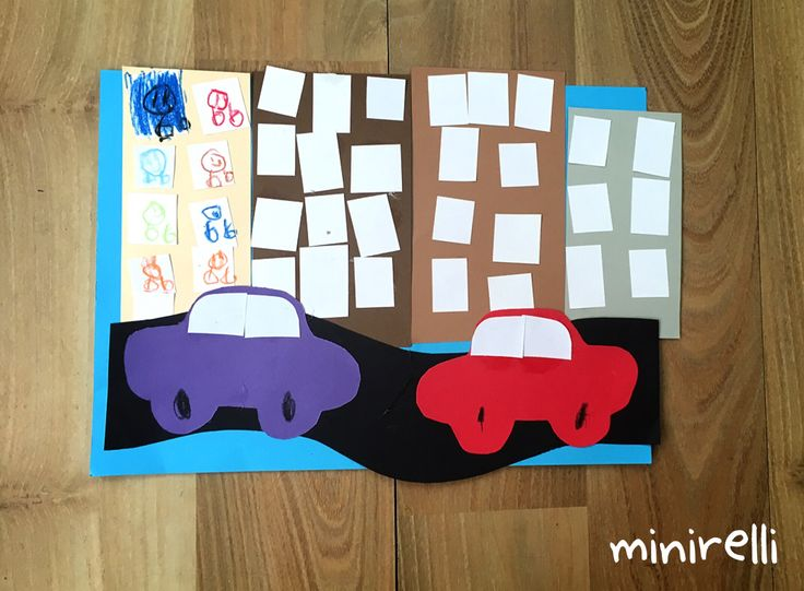 These fun little scenes are a little more complicated than yesterday's more simple cars on the road! You may need: Blue construction paper Assorted a4 paper (but will need black for the road …