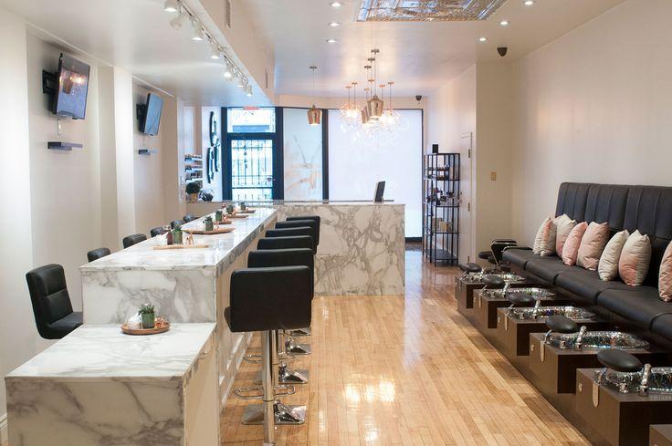 Modern Nail Lounge And Spa Salon Interior Design Modern Nail Salon Beauty Salon Decor