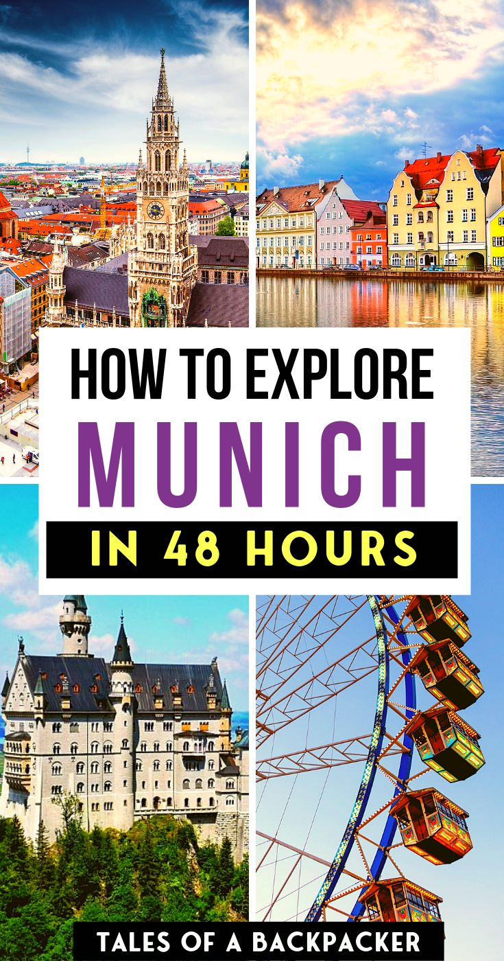 How to Explore Munich in 48 Hours: the perfect Munich 2 day itinerary! Munich is a beautiful city in Bavaria, Germany. The city full of fun activities, tasty delicious German food and delicious beer. Here's what to do in Munich in 2 days. #munich #germany #bavaria #travel #vacation