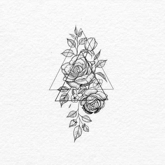 Zeichnen von Blumen / Flor / Mädchen / Tätowierung Feminina / Tatuagens Delicadas / Tätowiert / Unentschieden / Tätowierung / Tinte / eingefärbt …