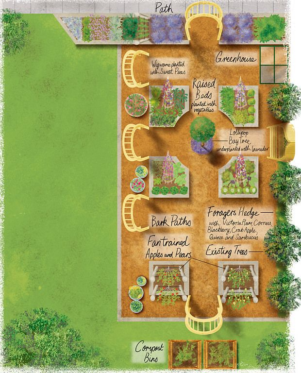 136 best images about garden designs on pinterest for Fruit and vegetable garden