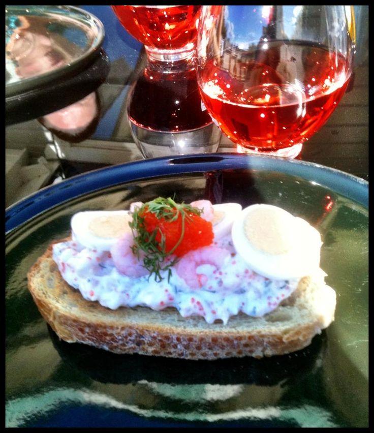 Swedish style toast skagen: http://forkandkniv.com/toast-skagen/